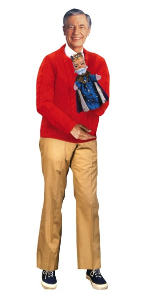 Mister Rogers Cut Out Card