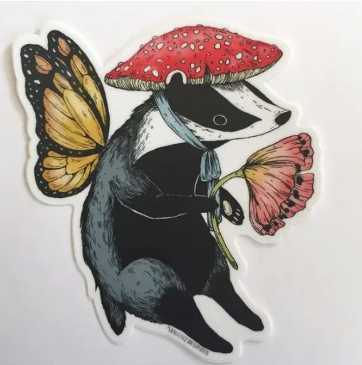Badger Fairy Sticker