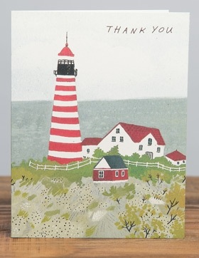 Maine Lighthouse (Thank You) card