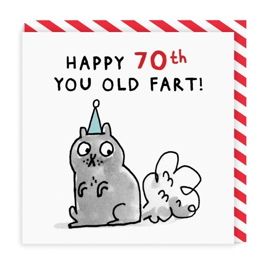 70 Old Fart Square Greeting Card