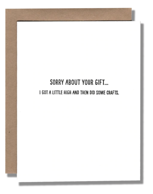 High Gift Birthday Card