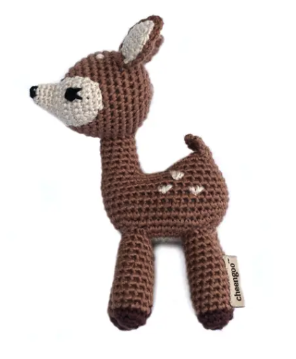 Standing Fawn Crocheted Rattle