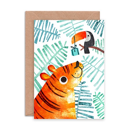 Tiger and Toucan Birthday Card