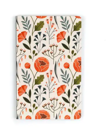 Flowers Layflat Lined Journal