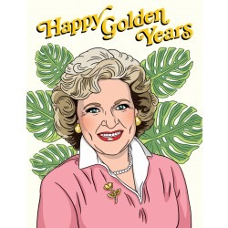 Betty White Retirement Card