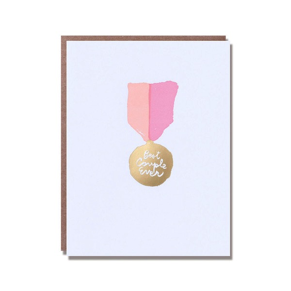 Best Couple Ever (Pink) Wedding Card