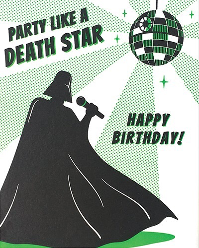Death Star Party Birthday Card