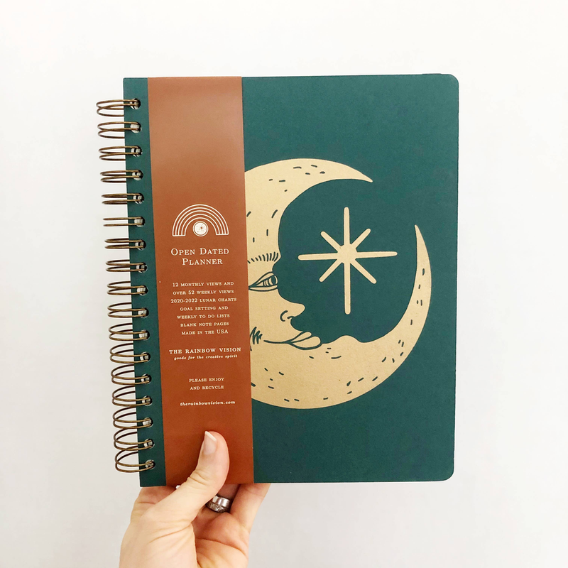 Moon Face Open Dated 12 Month Planner