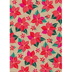 Graphic Poinsetta Wrap Paper Sheet (pick up only)