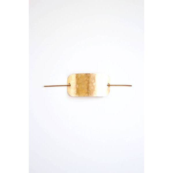 Hammered Bar Hair Pin (Brass)