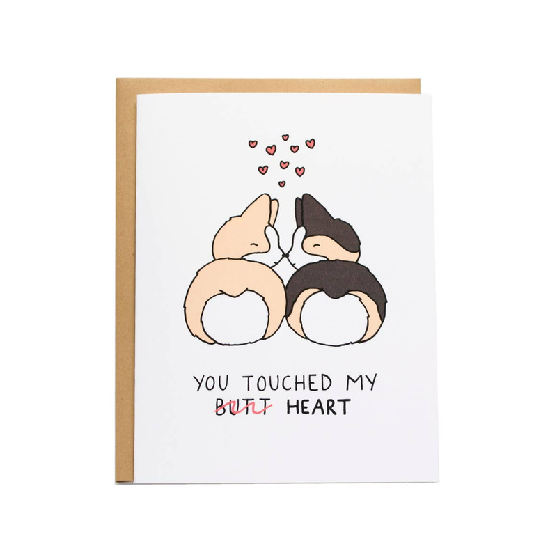 You Touched My Butt/Heart Card