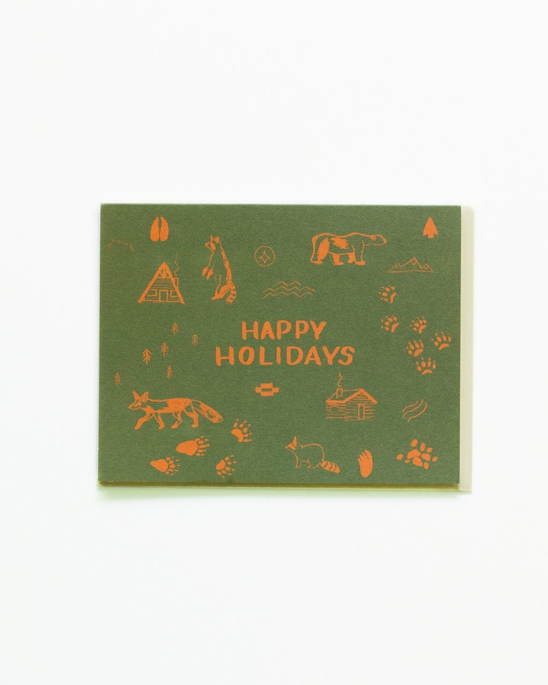 Happy Holidays Map Symbols Boxed Cards