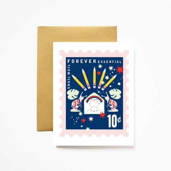 Snail Mail Forever Essential A2 Greeting Card