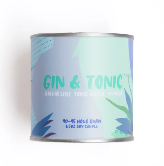 Gin & Tonic 6.5 oz Soy Candle