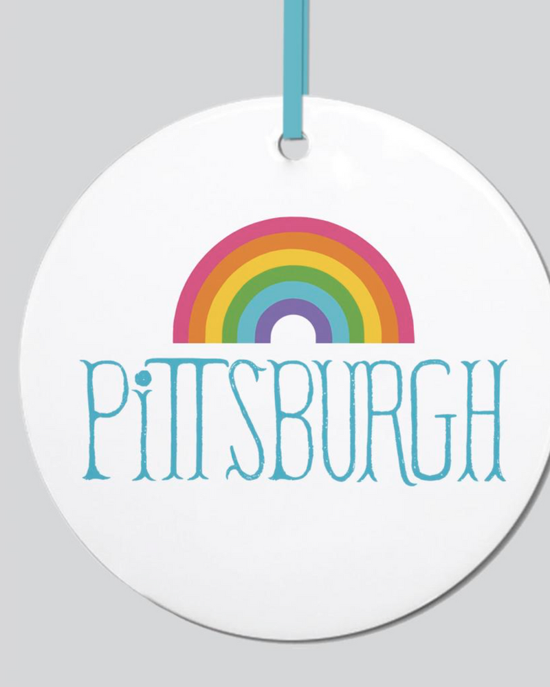 Pittsburgh with Rainbow Ornament