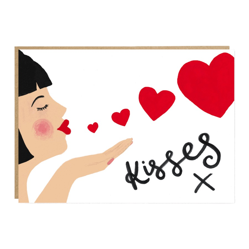 Kisses Valentine Card