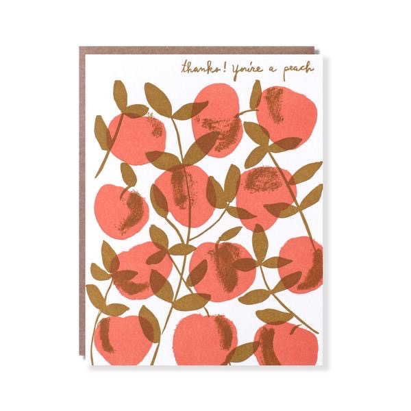 Peach Tree Thank You Card
