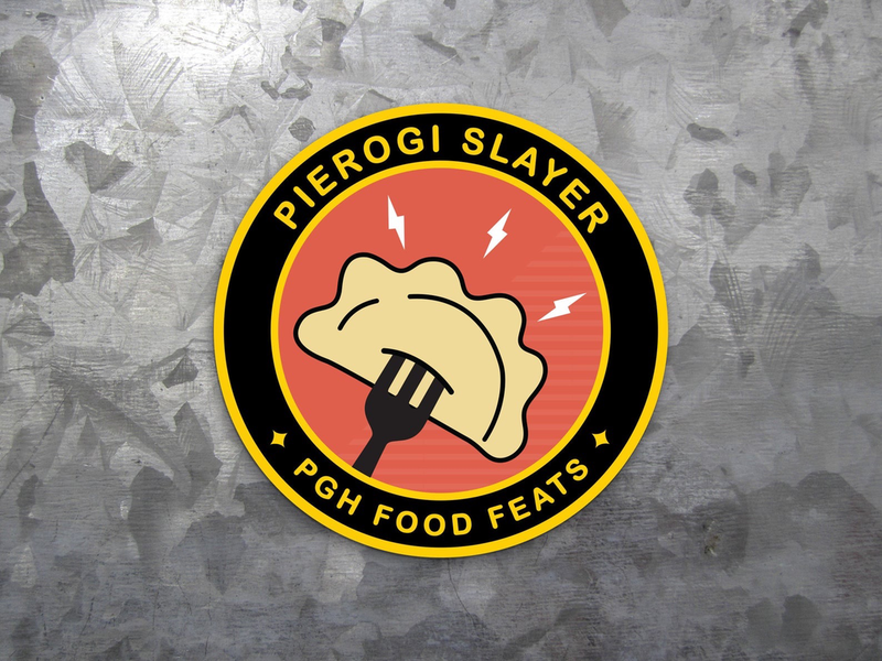 Pierogi Slayer Badge Sticker