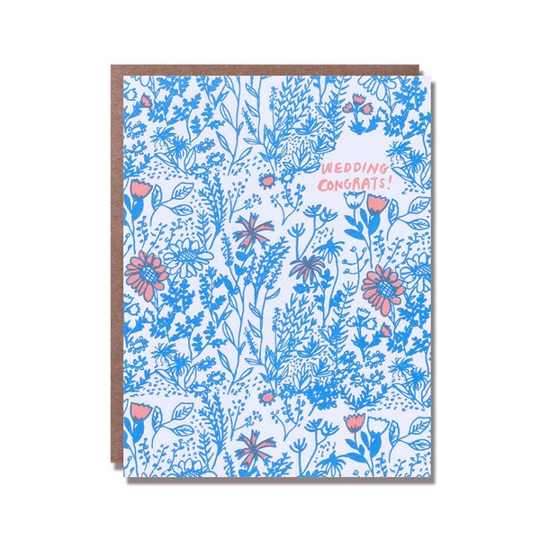 Wild Floral Wedding Card