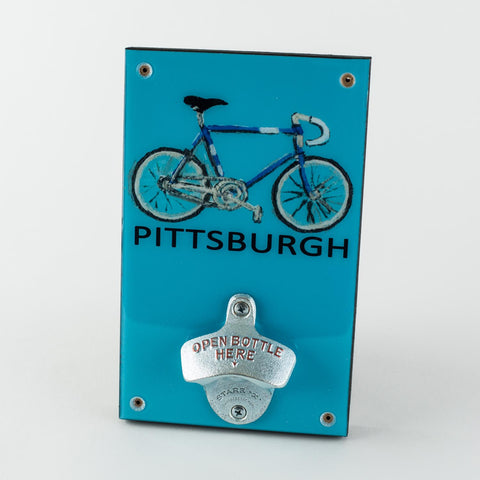 Pittsburgh Bicycle Bottle Opener