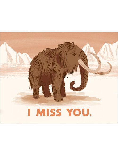 Miss You Mammoth Card