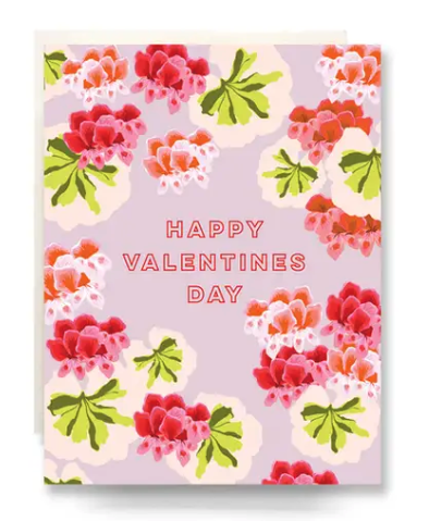 Geranium Valentine's Day Card
