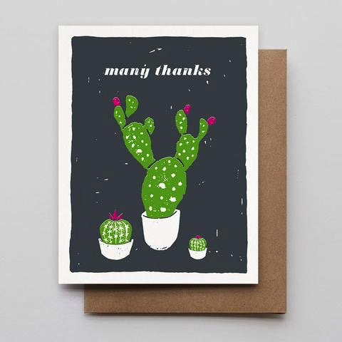 Many Thanks Cacti Card (Thank You)