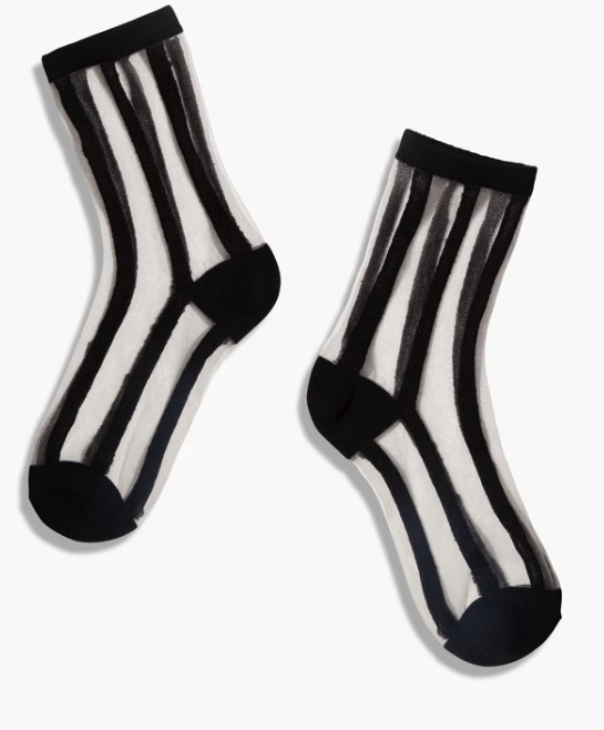 Sheer Socks (Lines)