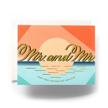 Modern Mr. and Mr. Wedding Card