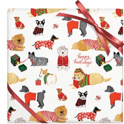 Happy Howlidays Wrap Paper Sheet (pick up only)
