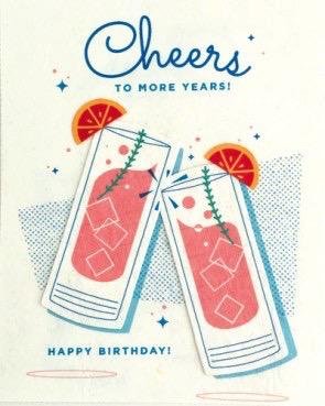 Cheers to More Years Birthday Card