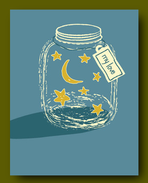 Jar of Stars Anniversary Card