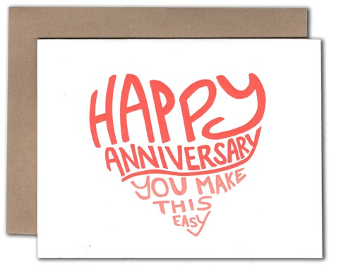 Easy Anniversary Card