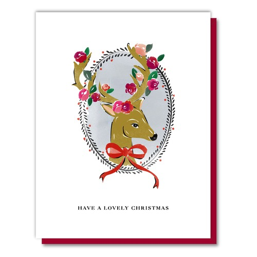 Lovely Christmas Deer Boxed Holiday Cards