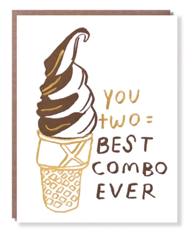 Soft Serve Best Combo Wedding Card