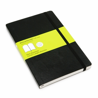 Soft Cover Blank Classic Notebook (Black)