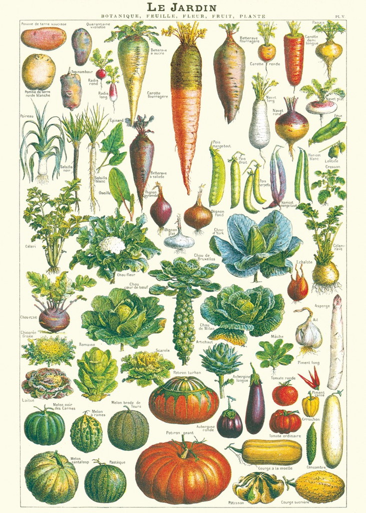 Garden Vegetables Chart Wrap (Pick Up Only)