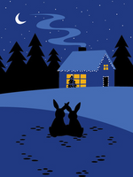 Cozy Home Bunnies Holiday Boxed Cards