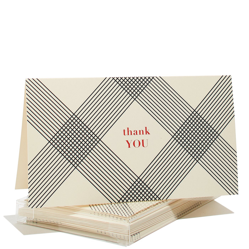 Gingham Gratitude Thank You Boxed Cards