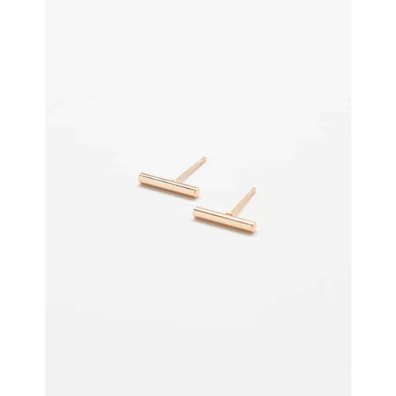 Gold Slim Bar Earrings