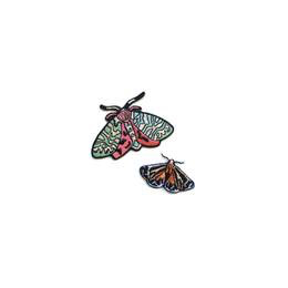 Moths Iron-On Patches, Set of Two