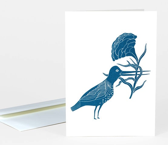Bird With Flower Card