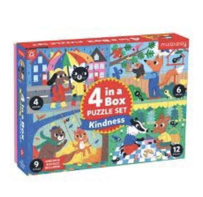4-In-A-Box Puzzle Set: Kindness