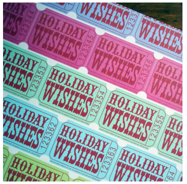Holiday Ticket Wrap Paper Sheet (pick up only)