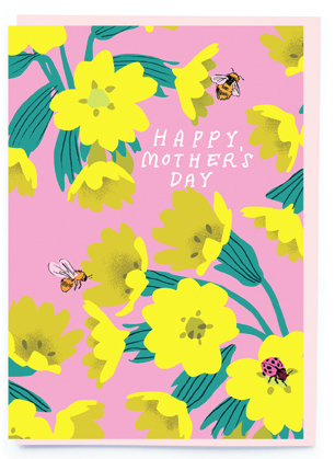 Bees and Flowers Mother's Day Card