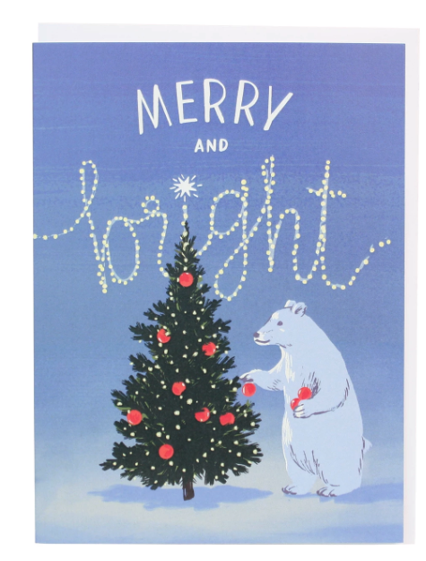 Polar Bear Tree Holiday Boxed Cards