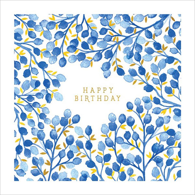 Blueberries - Birthday Card