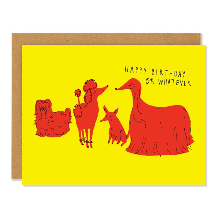 Indifferent Dogs Birthday Card