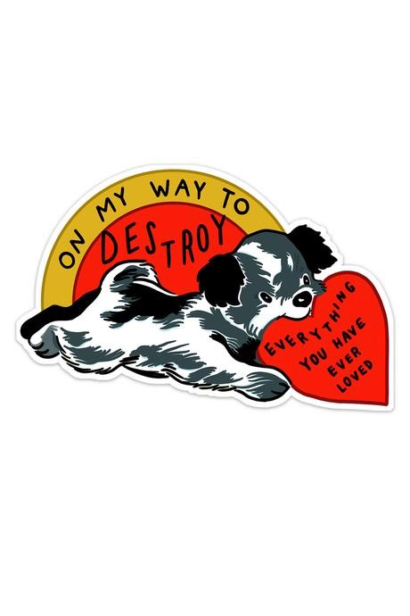 On My Way (Dog) Vinyl Sticker