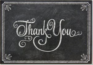 Chalkboard Thank You Boxed Cards
